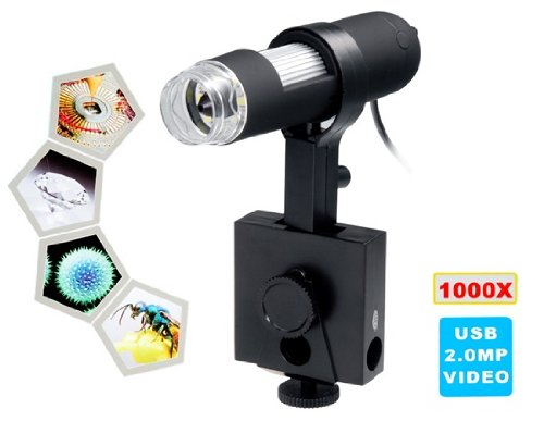 1000X Magnification Usb Digital Microscope (Black)
