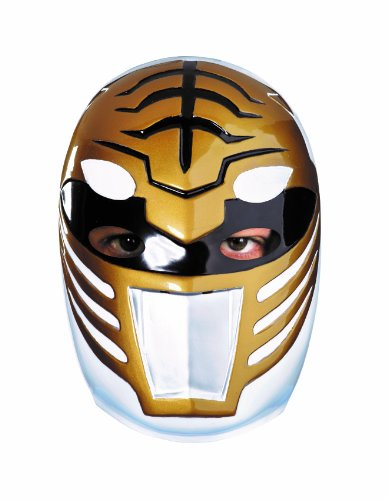 Disguise Sabans Mighty Morphin Power Rangers White Ranger Vacuform Mask Costume