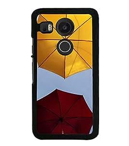 Colourful Umbrellas 2D Hard Polycarbonate Designer Back Case Cover for LG Nexus 5X :: LG Google Nexus 5X New