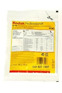 Kodak D-76 Black & White Film Developer, Powder to Make 1 Liter.