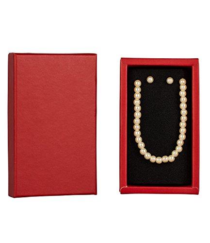 """SIX """"Xmas Sets"""" Geschenk Box mit Kett & Ohrsteckern, weiße Perlen (388-199)"""