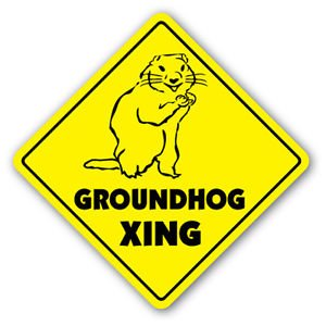 GROUNDHOG CROSSING Sticker
