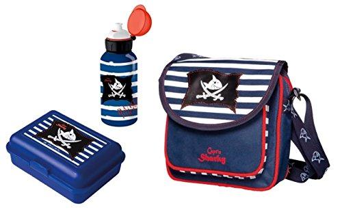 produkte spiegelburg kindergartentasche capt n sharky 3tlg set mit brotdose. Black Bedroom Furniture Sets. Home Design Ideas