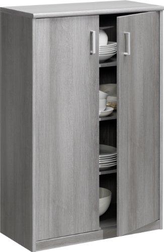 CS Schmalmöbel 74/50 Mehrzweckschrank 50 Soft Plus Silbereiche (72x110x36)