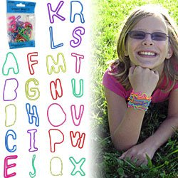 Groooovy Bandzzzz Shaped Rubber Bands - Alphabet - 24. Product Category: Toys & Games > Toys