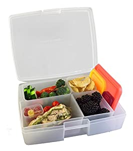 bentology leak proof bento lunch box with 5 removable containers fruit. Black Bedroom Furniture Sets. Home Design Ideas