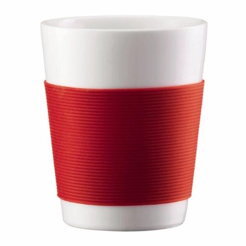 Bodum 10108-294 Canteen 2 Stück Tasse, doppelwandig, 0.1 l, Porzellan