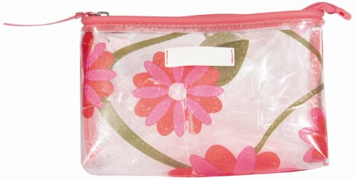 Modella Pink Flower Clear Cosmetic Bag