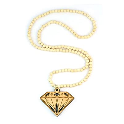Hip-Hop style Fashion Good Grass Tree Wood DIAMOND beads Pendant Necklace