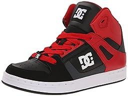 DC Rebound Skate Shoe (Little Kid/Big Kid), Dark Shadow/True Red, 1.5 M US Little Kid