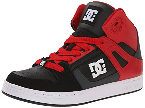 DCRebound - Stivaletti Unisex , (Dk Shadow/True Red), 6