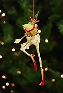 Patience Brewster Dancing Frog Ornament Retired - Krinkles Christmas Décor New 08-30566