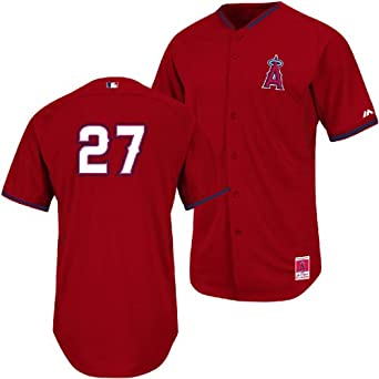 Mike Trout Los Angeles Angels of Anaheim 2014 Authentic On-Field BP Cool Base... by Majestic