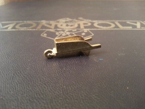 (Read Description Carefully) Monopoly - Deluxe Edition (Replacement Parts Only) Gold Looking Metal Game Token / Piece - Wheelbarrow - 1