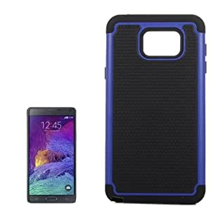 Crazy4Gadget Honeycomb Texture Plastic Hard Shell Combination Case for Samsung Galaxy Note 5 / N920 (Black + Dark Blue)