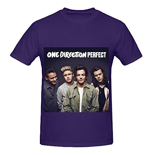 One Direction Perfect Ep Men Crew Neck Casual Shirts Purple (One Direction Alive compare prices)