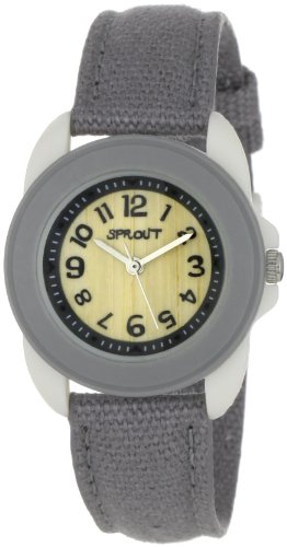 Sprout Unisex ST1016GYIVGY  Small Grey Organic Cotton Strap Watch