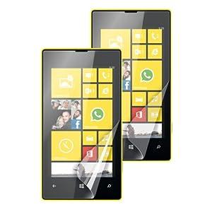 Muvit MUSCP0326 Pack de 2 Films de protection d'écran 1 Mat/1 Laqué pour Nokia Lumia 520