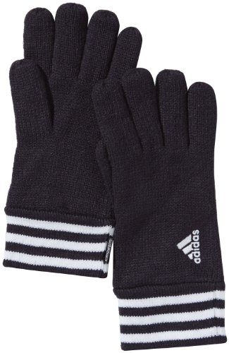 adidas, Guanti Power 3-Stripes, Nero (Black/White), M