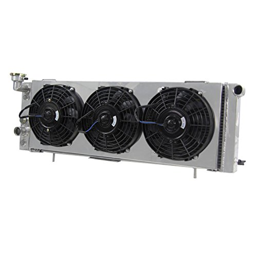 Primecooling 3 Row Core All Aluminum Radiator +Fan (9 Inches Dia. 12V) Shroud for Jeep Cherokee ,Comanche L4 /L6 Engine 1991-01 (Jeep Xj Fan Shroud compare prices)