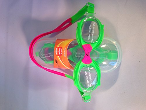 Z LEADER SWIM GOGGLES - MINNOW - YOUTH 3+ = neon green / hot pink