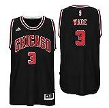 Men's Chicago Bulls #3 Dwyane Wade Basketball Jersey Black/Medium
