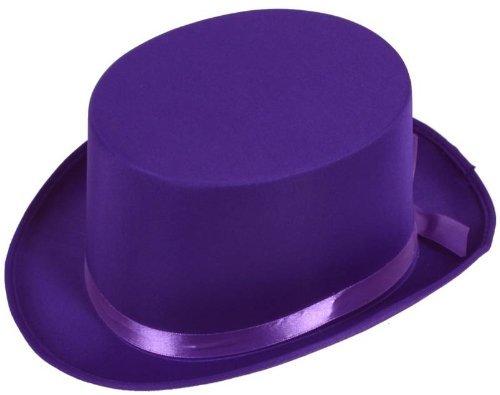 Imagen 1 de ADULT'S PURPLE SATIN TOP HAT - ONE SIZE FITS MOST (gorro/ sombrero)