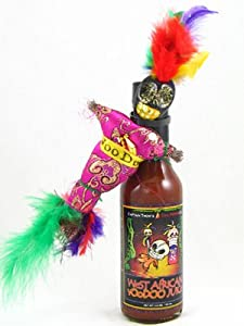 West African Voodoo Juice Hot Sauce With Voodoo Doll And Pins from West African VooDoo Juice Hot Sauce