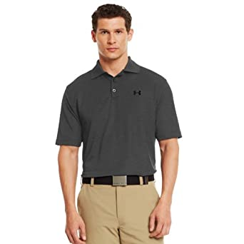 Under Armour Mens UA Performance Polo Extra Extra Large Carbon Heather by Under Armour