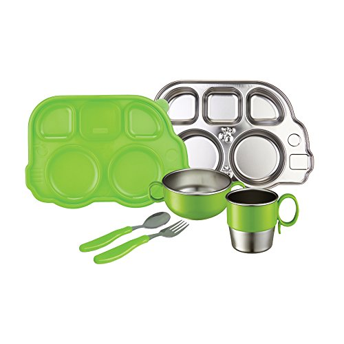 Innobaby Din Smart Stainless Mealtime Set, Green - 1