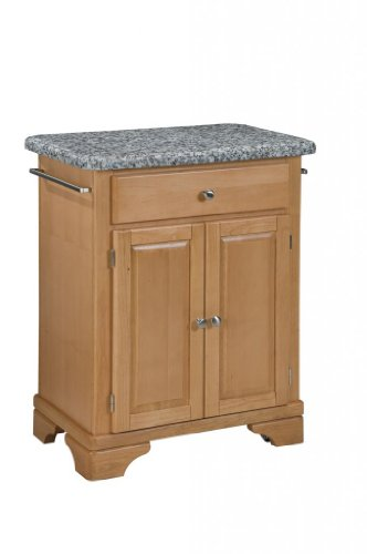 Cheap Kitchen Cart with Gray Granite Top in Maple Finish (VF_HY-9003-0093)