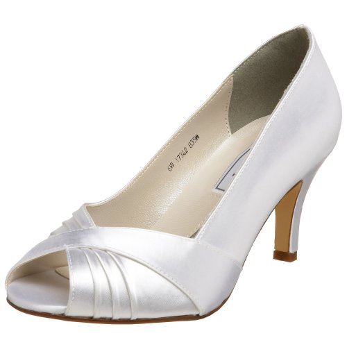 Touch Ups Women's Nona Pump,White,6.5 W