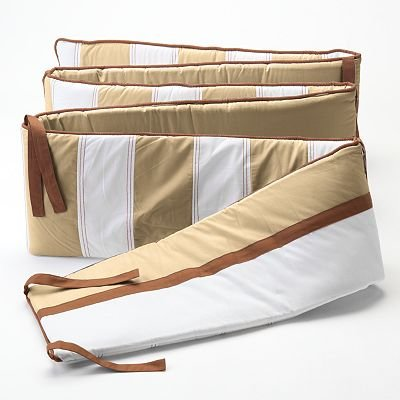 Metro Khaki/Choc Bumper Pad
