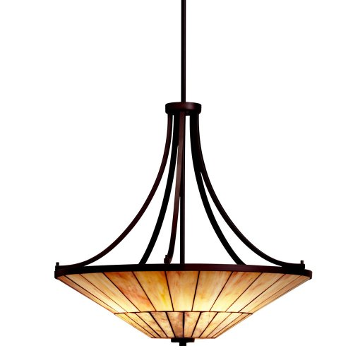 B004NXRD3M Kichler Lighting 65355 4 Light Morton Bowl Large Pendant, Olde Bronze