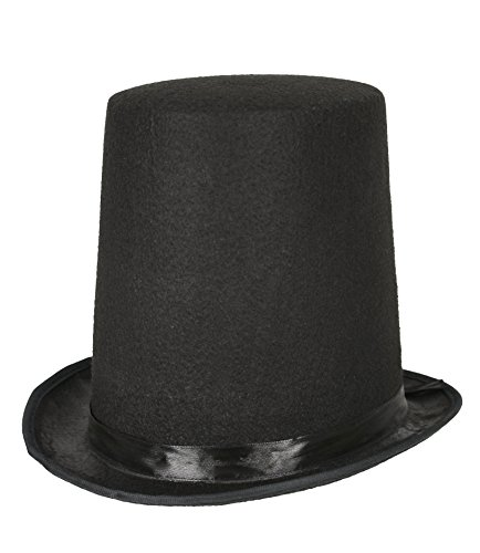 Lincoln Stovepipe Style Hat Black