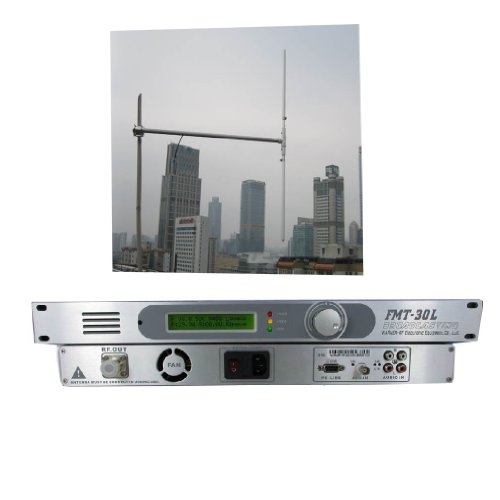 Fmuser Fmt-30L 30W Fm Transmitter 1/2 Wave Dipole Antenna Kit