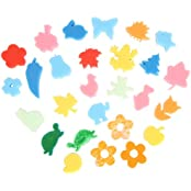 Generic 24pcs Colorful Different Shapes Kids Children Crafting Painting Sponge DIY Stamp