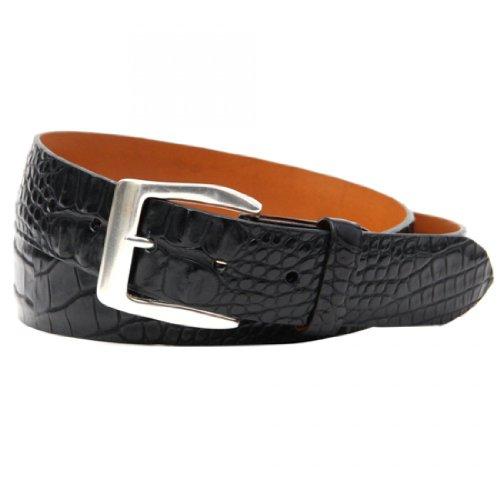 Trafalgar Spencer Black Hornback Alligator Belt Size 38