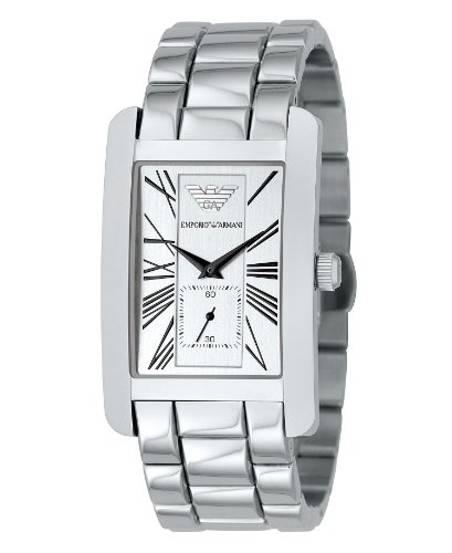 Emporio Armani Gents Stainless Steel Bracelet Watch with Silver Dial