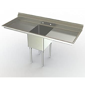 One Compartment NSF Sink with 24 x 18 inch Bowl: Single Bowl Sinks ...