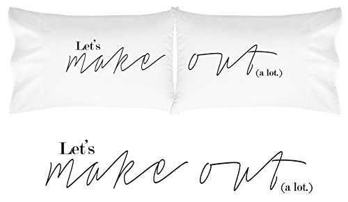 Oh, Susannah Lets Make Out Pillow Cases His and Hers Pillowcases For Couples (Always Your Little Girl Frame compare prices)