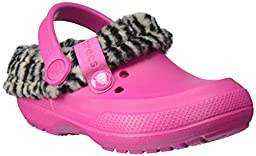 crocs 16014 Blitzen II Animal Prt Clog (Toddler/Little Kid),Candy Pink/Black,12 M US Little Kid