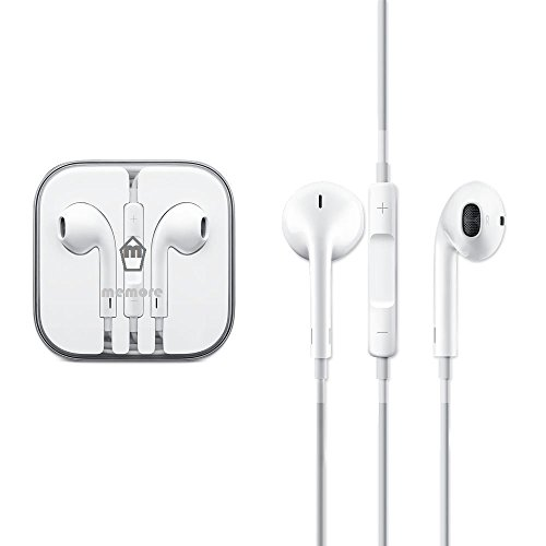 Memore Branded White Earphone Headphone Headset Hands free for Apple, Samsung,Xolo, Micromax, and all other tablets and mobiles