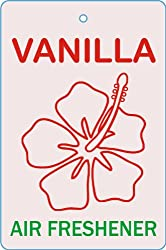 Edelcrafts Car Home Office Paper Hanging Vanilla Air Freshener (Pack of 2) - FREE SHIPPING