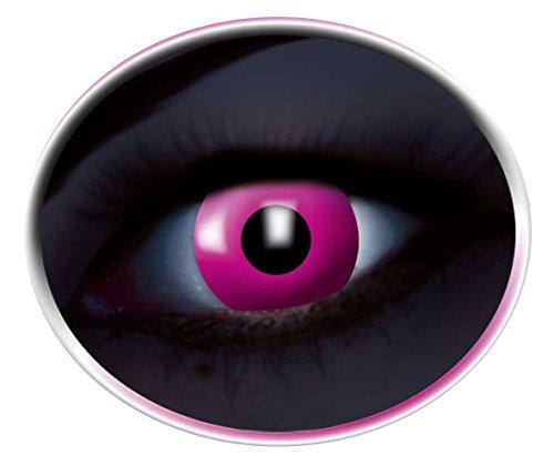 Lenti a contatto colorate UV anno lenti rosa Flash luci in luce nera 1paio (2pezzi) rosa