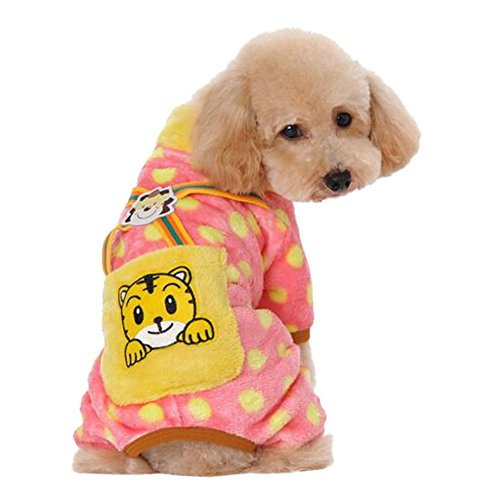 hmlover-winter-dog-coral-fleece-clothes-wave-point-coat-with-pocket-pet-jacket-pink