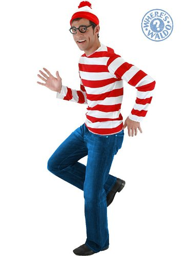 Where's Waldo Halloween Costume - Adult Size Large/X-large