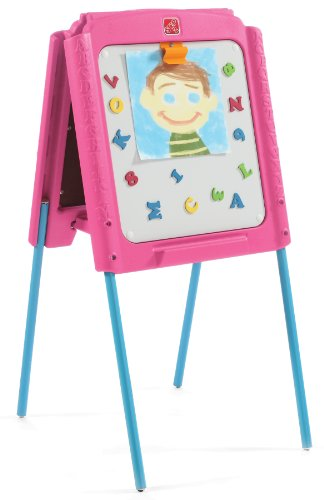 Step2 Girl's Sketch and Store Easel, Pink/Blue
