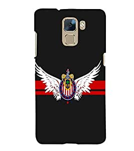 printtech Eagle Back Case Cover for Huawei Honor 7