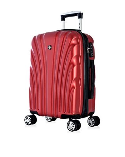 "Olympia International ""Vortex"" Carry-On Hardcase Spinner W/TSA Lock, Wine"